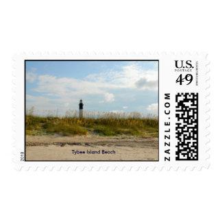 Tybee Island Beach Stamp