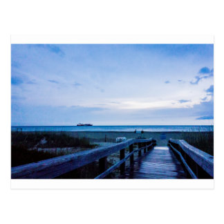 tybee island beach savannah georgia ocean evening postcard