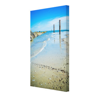 Tybee Island Beach Wrapped Canvas Stretched Canvas Prints