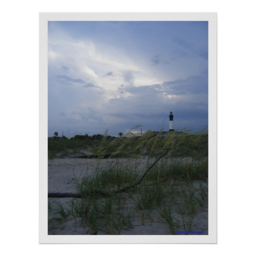Tybee Island Evening Poster