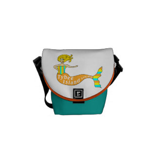 Tybee Island Georgia Mermaid Messenger Bags
