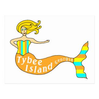 Tybee Island, Georgia Mermaid Postcard