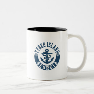 Tybee Island Georgia Two-Tone Coffee Mug
