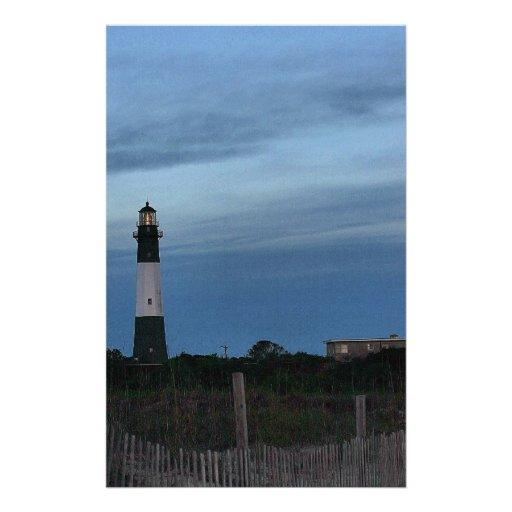 Tybee Island Light House Savannah, GA Custom Stationery