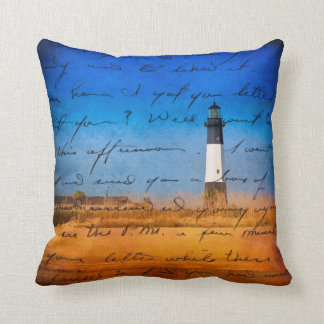 Tybee Island Lighthouse - A Sentimental Journey Throw Pillow