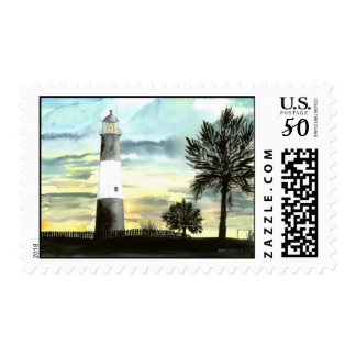 TYBEE Island Lighthouse art collectible gifts Postage