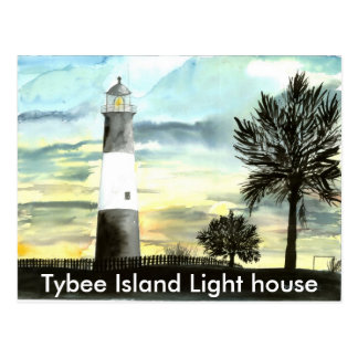 TYBEE Island Lighthouse art collectible gifts, ... Post Card