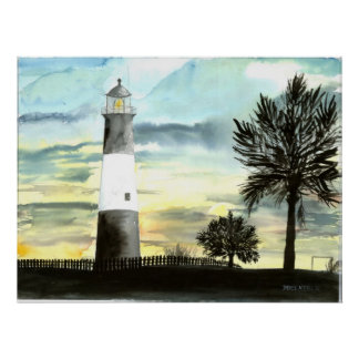 Tybee Island Lighthouse canvas painting print