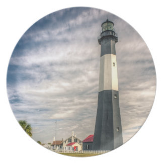 Tybee Island Lighthouse Melamine Plate