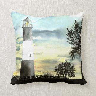 Tybee Island Lighthouse pillow