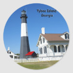 Tybee Island Lighthouse Round Stickers