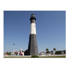 Tybee Island Lighthouse, Savannah Ga Postcard at Zazzle