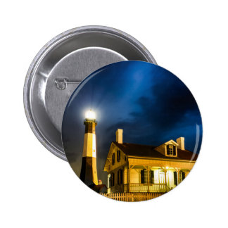 tybee island lighthouse  savannah georgia ocean be pinback button