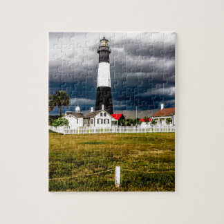 tybee island lighthouse savannah georgia ocean eve jigsaw puzzle