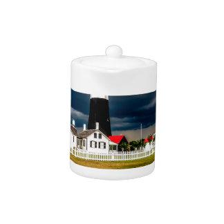 tybee island lighthouse savannah georgia ocean eve teapot
