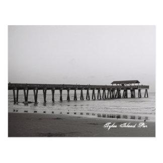 Tybee Island Pier Postcard