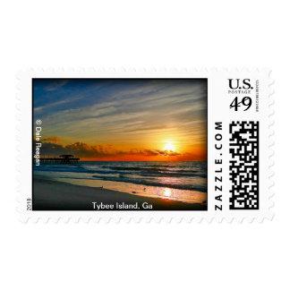 Tybee Island Sunrise Postage Stamp