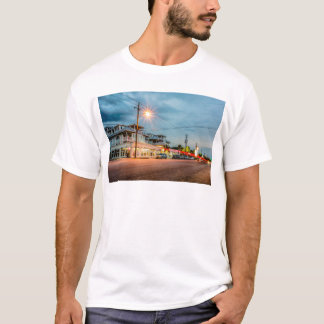 tybee island town savannah georgia ocean evening h T-Shirt
