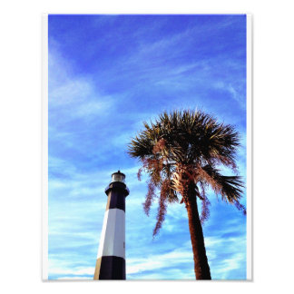 Tybee Lighthouse with Palmetto Photo Art