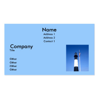 Tybee Ligthouse Business Card