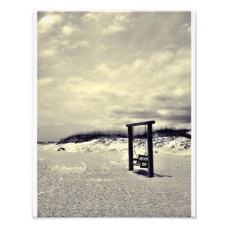 Tybee Swing (black and white) Photo Print
