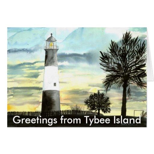 TYBEEISLANDLIGHTPOSTER, saludos de Tybee es… Felicitación