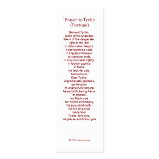 Tyche (Fortune) Prayer Card Mini Business Card