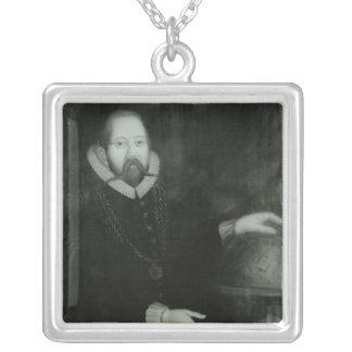 Tycho Brahe Square Pendant Necklace