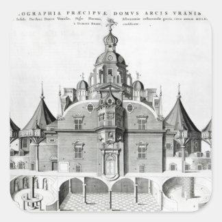 Tycho Brahe's observatory Uraniborg Sticker