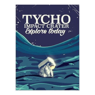 Tycho moon travel poster card