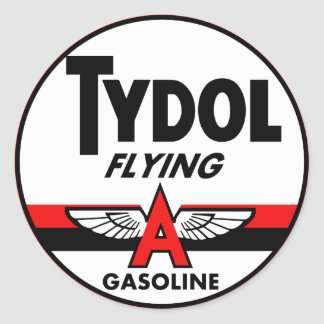 Tydol Flying Gasoline vintage sign Classic Round Sticker