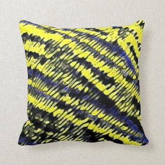 Tye Dye Blue and Yellow Throw Pillow