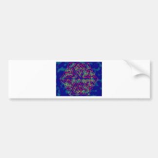 Tye-dye Celtic Knot Bumper Sticker