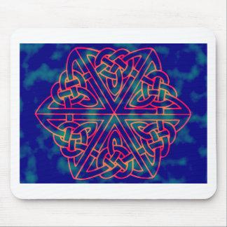Tye-dye Celtic Knot Mouse Pad
