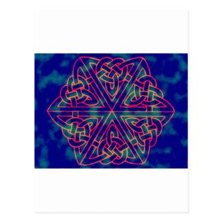 Tye-dye Celtic Knot Postcard