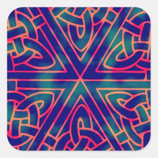 Tye-dye Celtic Knot Square Sticker