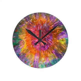 Tye-Dye Round Wall Clock