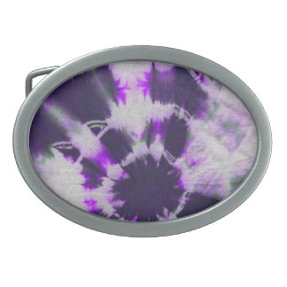 Tye Dye Composition #1 by Michael Moffa Belt Buckle