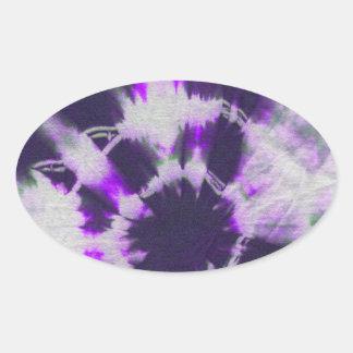 Tye Dye Composition 1 by Michael Moffa Oval Stickers