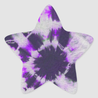 Tye Dye Composition 1 by Michael Moffa Star Stickers