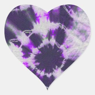 Tye Dye Composition 1 by Michael Moffa Heart Stickers