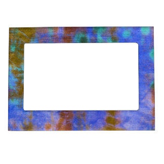 Tye Dye Composition #9 by Michael Moffa Magnetic Photo Frames