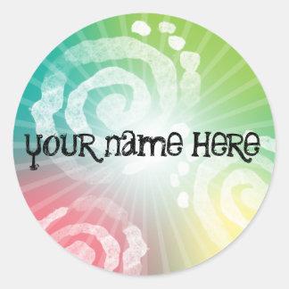 Tye-Dye Design Classic Round Sticker