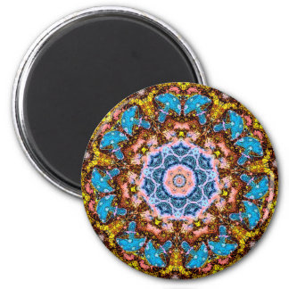 tye dye mushrooms 4 2 inch round magnet