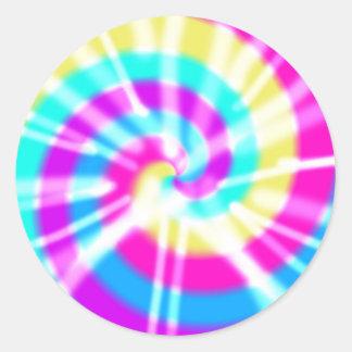 Tye Dye Pattern Classic Round Sticker