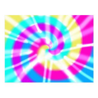 Tye Dye Pattern Postcard