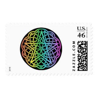 tye dye pentacle stamp