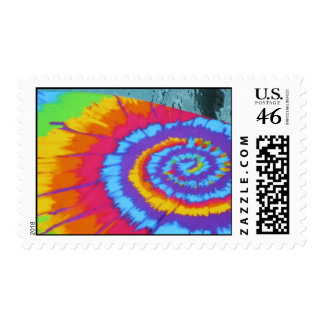 tye dye postage stamp