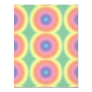 Tye Dye Rainbow Bullseye Card