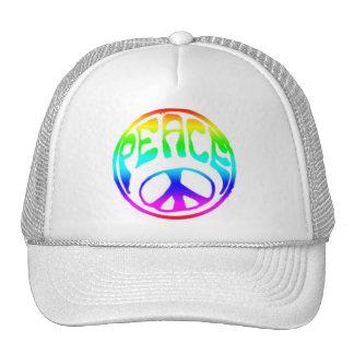 Tye-Dye Retro Peace Trucker Hat